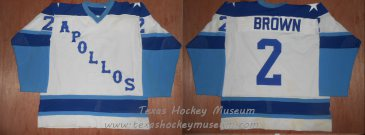Larry Brown Jersey - Texas Hockey - Houston Hockey - Houston Apollos Hockey - WPHL Hockey - Western Proffessional Holckey League- CHL Hockey - Central Hockey League