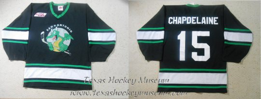 Rene Chapdelaine - Rene Chapdelaine Jersey - Texas Hockey - San Antonio Dragons Hockey - San Antonio Hockey - IHL Hockey - International Holckey League - AHL Hockey - American Hockey League