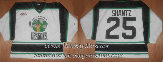 Brian Shantz - Brian Shantz Jersey - Texas Hockey - San Antonio Dragons Hockey - San Antonio Hockey - IHL Hockey - International Holckey League - AHL Hockey - American Hockey League