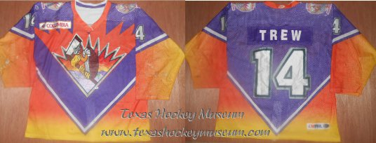Bill Trew - Bill Trew Jersey - Texas Hockey - El Paso Hockey - El Paso Buzzards Hockey - WPHL Hockey - Western Proffessional Holckey League- CHL Hockey - Central Hockey League