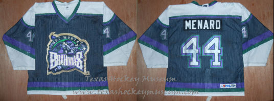 Terry Menard - Terry Menard Jersey - Texas Hockey - Fort Worth Hockey - Fort Worth Brahmas Hockey - WPHL Hockey - Western Proffessional Holckey League- CHL Hockey - Central Hockey League