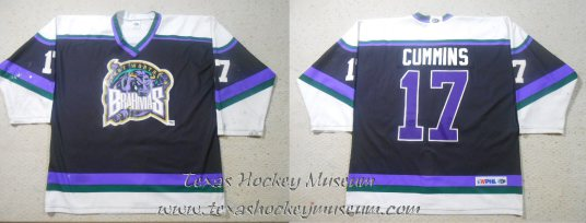 Barry Cummins - Barry Cummins Jersey - Texas Hockey - Fort Worth Hockey - Fort Worth Brahmas Hockey - WPHL Hockey - Western Proffessional Holckey League- CHL Hockey - Central Hockey League