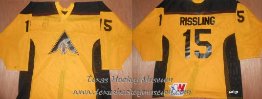 Jaynen Rissling - Jaynen Rissling Jersey - Texas Hockey - Amarillo Hockey - Amarillo Rattlers Hockey - WPHL Hockey - Western Proffessional Holckey League- CHL Hockey - Central Hockey League