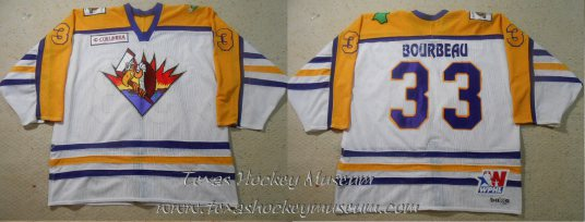 Francois Bourbeau - Francois Bourbeau Jersey - Texas Hockey - El Paso Hockey - El Paso Buzzards Hockey - WPHL Hockey - Western Proffessional Holckey League- CHL Hockey - Central Hockey League