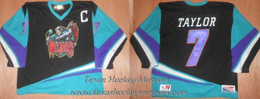 Mike Taylor - Mike Taylor Jersey- Laird Lidster Jersey - Texas Hockey - Waco Wizards Hockey - Waco Hockey - WPHL Hockey - Western Proffessional Holckey League- CHL Hockey - Central Hockey League