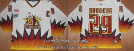 Van Burgess - Van Burgess Jersey - Texas Hockey - El Paso Hockey - El Paso Buzzards Hockey - WPHL Hockey - Western Proffessional Holckey League- CHL Hockey - Central Hockey League