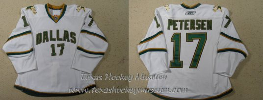 Toby Petersen - Toby Petersen Jersey - Texas Hockey - Austin Hockey -Dallas Hockey- Dallas Stars Hockey - Texas Stars Hockey - NHL Hockey - National Holckey League- AHL Hockey - American Hockey League