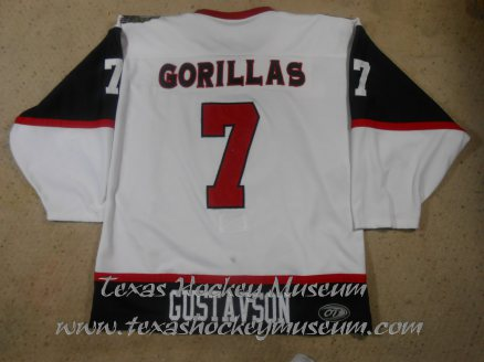 Ben Gustavson - Ben Gustavson Jersey- Texas Hockey - Amarillo Gorillas Hockey - Amarillo Hockey - WPHL Hockey - Western Proffessional Holckey League- CHL Hockey - Central Hockey League