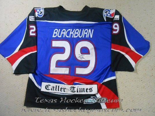 Josh Blackburn - Josh Blackburn Jersey- Texas Hockey - Corpus Christi Rayz Hockey - Corpus Christi Hockey - WPHL Hockey - Western Proffessional Holckey League- CHL Hockey - Central Hockey League