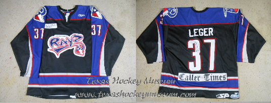 Jim Leger - Jim Leger Jersey- Texas Hockey - Corpus Christi Rayz Hockey - Corpus Christi Hockey - WPHL Hockey - Western Proffessional Holckey League- CHL Hockey - Central Hockey League