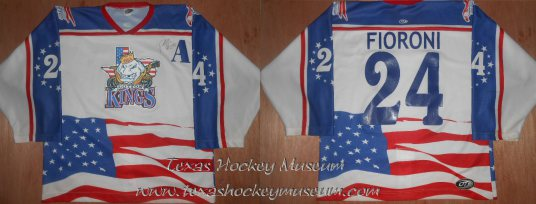 Paul Fioroni - Paul Fioroni Jersey - Texas Hockey - Lubbock Cotton Kings Hockey - Lubbock Hockey - WPHL Hockey - Western Proffessional Holckey League- CHL Hockey - Central Hockey League