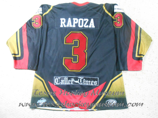 Bobby Rapoza - Bobby Rapoza Jersey- Texas Hockey - Corpus Christi Icerays Hockey - Corpus Christi Hockey - WPHL Hockey - Western Proffessional Holckey League- CHL Hockey - Central Hockey League