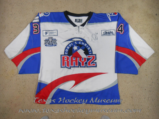Ron Vogel - Ron Vogel Jersey- Texas Hockey - Corpus Christi Rayz Hockey - Corpus Christi Hockey - WPHL Hockey - Western Proffessional Holckey League- CHL Hockey - Central Hockey League