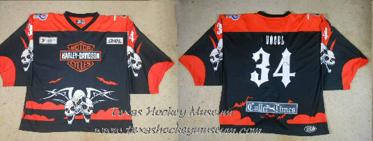 Ron Vogel - Ron Vogel Harley Davidson Halloween Jersey- Texas Hockey - Corpus Christi Rayz Hockey - Corpus Christi Hockey - WPHL Hockey - Western Proffessional Holckey League - Central Hockey League