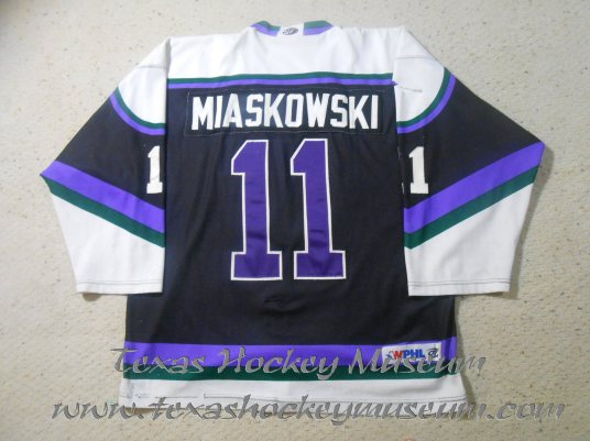 Phil Miaskowski - Phil Miaskowski Jersey - Texas Hockey - Fort Worth Hockey - Fort Worth Brahmas Hockey - WPHL Hockey - Western Proffessional Holckey League- CHL Hockey - Central Hockey League