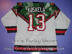 Terho Koskela - Terho Koskela Jersey - Texas Hockey - Abilene Hockey - Abilene Aviators Hockey - WPHL Hockey - Western Proffessional Holckey League- CHL Hockey - Central Hockey League