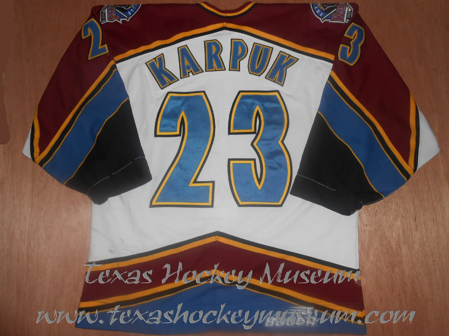 Ken Karpuk - Ken Karpuk Jersey - Texas Hockey - Amarillo Hockey - Amarillo Rattlers Hockey - Amarillo Gorillas - WPHL Hockey - Western Proffessional Holckey League- CHL Hockey - Central Hockey League