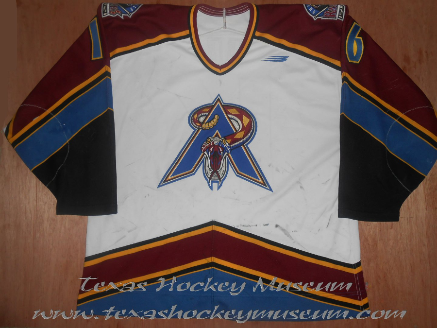 Darren Meek - Darren Meek Jersey - Texas Hockey  Amarillo Hockey - Amarillo Rattlers Hockey - Amarillo Gorillas - WPHL Hockey - Western Proffessional Holckey League- CHL Hockey - Central Hockey League