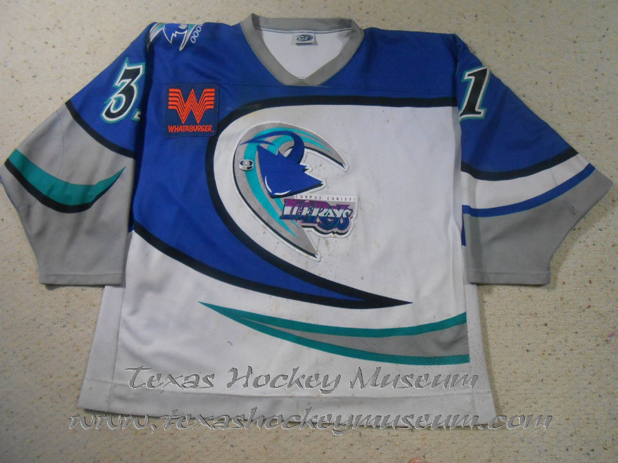 Eddy Skazyk - Eddy Skazyk Jersey- Texas Hockey - Corpus Christi Icerays Hockey - Corpus Christi Hockey - WPHL Hockey - Western Proffessional Holckey League- CHL Hockey - Central Hockey League - USHL