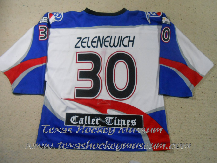 Brent Zelenewich - Brent Zelenewich Jersey- Texas Hockey - Corpus Christi Rayz Hockey - Corpus Christi Hockey - WPHL Hockey - Western Proffessional Holckey League- CHL Hockey - Central Hockey League