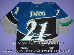 Frank Evans - Frank Evans Jersey- Texas Hockey - Corpus Christi Icerays Hockey - Corpus Christi Hockey - WPHL Hockey - Western Proffessional Holckey League- CHL Hockey - Central Hockey League - USHL