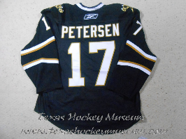 Toby Petersen - Toby Petersen Jersey - Texas Hockey - Austin Hockey -Dallas Hockey- Dallas Stars Hockey - Texas Stars Hockey - NHL Hockey - National Hockey League- AHL Hockey - American Hockey League