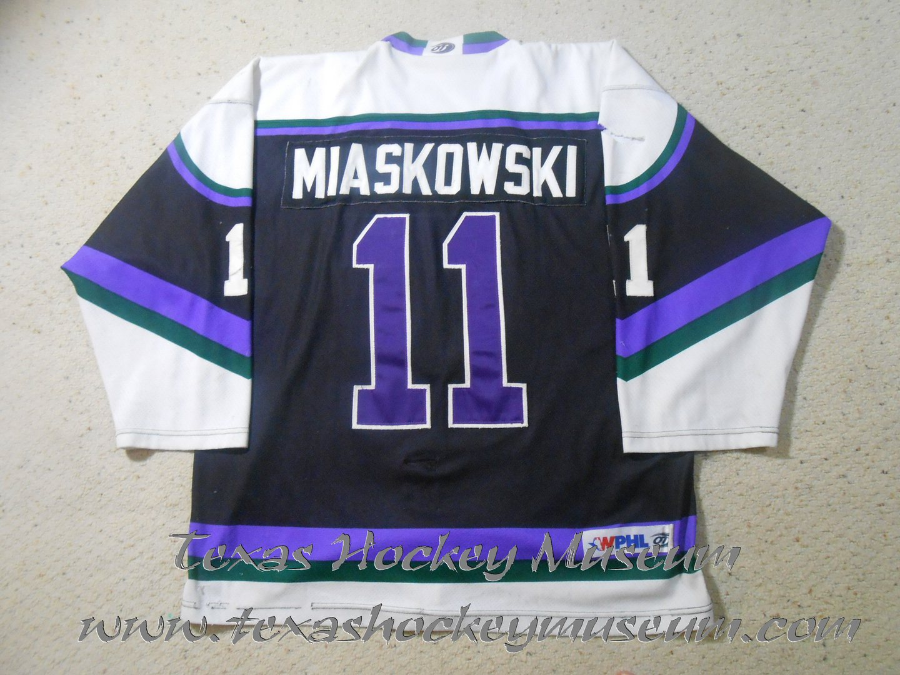 Phil Miaskowski - Phil Miaskowski Jersey - Texas Hockey - Fort Worth Hockey - Fort Worth Brahmas Hockey -WPHL Hockey - Western Proffessional Holckey League- CHL Hockey - Central Hockey League
