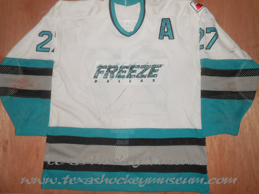 Frank Lascala - Frank Lascala Jersey - Texas Hockey - Dallas Hockey - Dallas Freeze Hockey - WPHL Hockey - Western Proffessional Holkey League- CHL Hockey - Central Hockey League