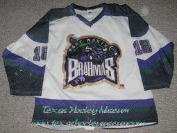 Mel Angelsted - Mel Angelsted Jersey - Texas Hockey - Fort Worth Hockey - Fort Worth Brahmas Hockey - WPHL Hockey - Western Proffessional Holckey League- CHL Hockey - Central Hockey League