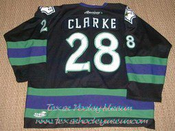 Jason Clarke - Jason Clarke Jersey - Texas Hockey - Fort Worth Hockey - Fort Worth Brahmas Hockey - WPHL Hockey - Western Proffessional Holckey League- CHL Hockey - Central Hockey League