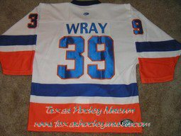 Scott Wray - Scott Wray Jersey - Texas Hockey - Fort Worth Hockey - Fort Worth Brahmas Hockey - WPHL Hockey - Western Proffessional Holckey League- CHL Hockey - Central Hockey League