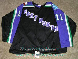 Jan Jas - Jan Jas Jersey - Texas Hockey - Fort Worth Hockey - Fort Worth Brahmas Hockey - WPHL Hockey - Western Proffessional Holckey League- CHL Hockey - Central Hockey League