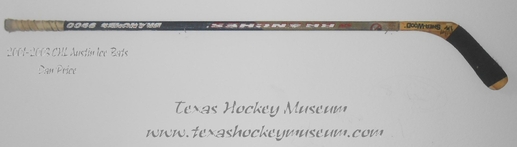 Dan Price - Dan Price Stick - Texas Hockey - Austin Hockey -  Austin Ice Bats Hockey - WPHL Hockey - Western Proffessional Holckey League- CHL Hockey - Central Hockey League