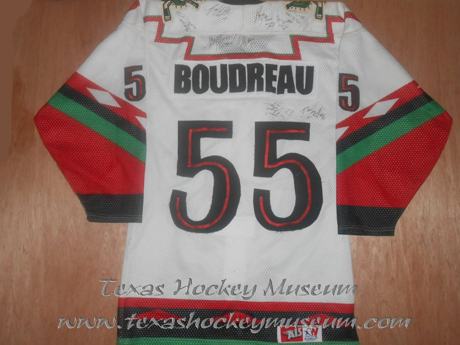 07fa207545b 1998-1999 San Angelo Outlaws Carl Boudreau (Playoff Style Authentic). 2003-2004  CHL San Angelo Saints Jersey