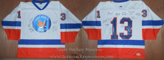 Fort Worth Texans - Fort Worth Texans Jersey - Texas Hockey - Fort Worth Hockey - Fort Worth Brahmas Hockey - WPHL Hockey - Western Proffessional Holckey League- CHL Hockey - Central Hockey League