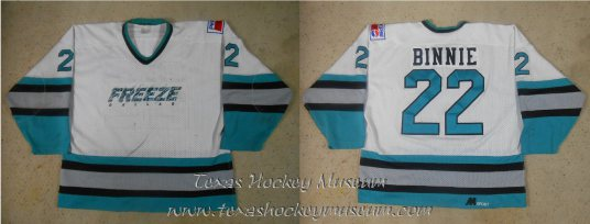 Troy Bennie Jersey - Texas Hockey - Dallas Hockey - Dallas Freeze Hockey - WPHL Hockey - Western Proffessional Holckey League- CHL Hockey - Central Hockey League