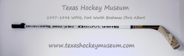 Chris Albert - Chris Albert Hockey Stick - Texas Hockey - Fort Worth Hockey - Fort Worth Brahmas Hockey - WPHL Hockey - Western Proffessional Holckey League- CHL Hockey - Central Hockey League