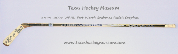 Radek Stephan  - Radek Stephan Hockey Stick - Texas Hockey - Fort Worth Hockey - Fort Worth Brahmas Hockey - WPHL Hockey - Western Proffessional Holckey League- CHL Hockey - Central Hockey League