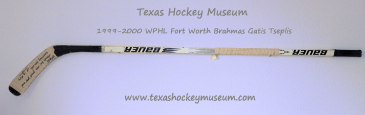 Gatis Tseplis  - Gatis Tseplis Hockey Stick - Texas Hockey - Fort Worth Hockey - Fort Worth Brahmas Hockey - WPHL Hockey - Western Proffessional Holckey League- CHL Hockey - Central Hockey League