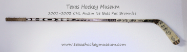 Pat Brownlee - Pat Brownlee Hockey Stick- Texas Hockey - Austin Hockey -  Austin Ice Bats Hockey - WPHL Hockey - Western Proffessional Holckey League- CHL Hockey - Central Hockey League