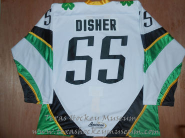 Jason Disher - Jason Disher Fort Worth Brahmas Jersey- Texas Hockey - Fort Worth Hockey - Fort Worth Brahmas Hockey - WPHL Hockey - Western Proffessional Holckey League- CHL Hockey - Central Hockey League