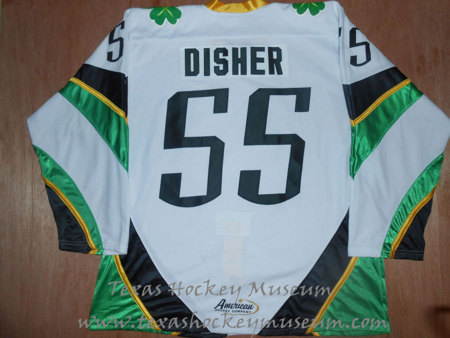 Jason Disher - Jason Disher Jersey - Texas Hockey - Fort Worth Hockey - Fort Worth Brahmas Hockey - WPHL Hockey - Western Proffessional Holckey League- CHL Hockey - Central Hockey League