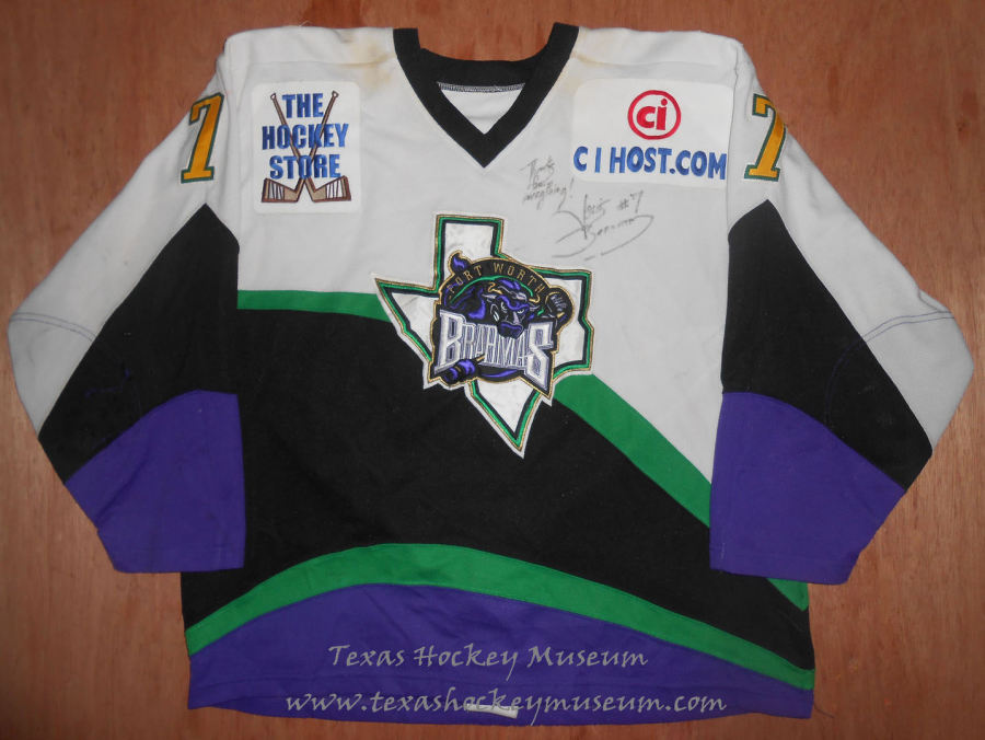 Louis Bernard - Louis Bernard Jersey - Texas Hockey - Fort Worth Hockey - Fort Worth Brahmas Hockey - WPHL Hockey - Western Proffessional Holckey League- CHL Hockey - Central Hockey League