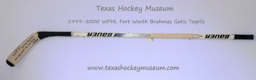 Gatis Tseplis Hockey Stick - Bauer Suprime 3003 Hockey Stick - Fort Worth Brahmas Hockey - WPHL Hockey - Western Proffessional Holckey League- CHL Hockey - Central Hockey League