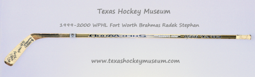 Radek Stephan Hockey Stick - Sher-Wood PMPX 9950 Iron Carbon Hockey Stick - Fort Worth Brahmas Hockey - WPHL Hockey - Western Proffessional Holckey League- CHL Hockey - Central Hockey League