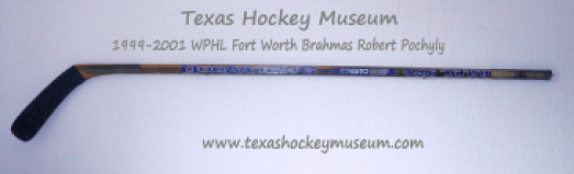 Robert Pochyly Hockey Stick - Sher-Wood P.M.P.X 9950 Iron Carbon Hockey Stick - Fort Worth Brahmas Hockey - WPHL Hockey - Western Proffessional Holckey League- CHL Hockey - Central Hockey League