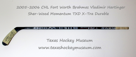 Vladimir Hartinger Hockey Stick - Sher-Wood Momentum TXD X-Tra Durable Hockey Stick - Fort Worth Brahmas Hockey - WPHL Hockey - Western Proffessional Holckey League- CHL Hockey - Central Hockey League