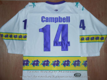 Peter Campbell - Peter Campbell Jersey - Texas Hockey - Fort Worth Hockey - Fort Worth Brahmas Hockey - WPHL Hockey - Western Proffessional Holckey League- CHL Hockey - Central Hockey League