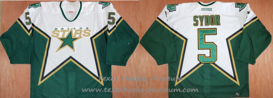 Darryl Sydor - Darryl Sydor Hockey Jersey - Texas Hockey - Austin Hockey - Dallas Hockey - Dallas Stars Hockey - Texas Stars Hockey - NHL Hockey - National Holckey League- AHL Hockey - American Hockey League