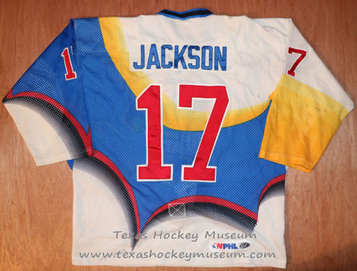 Mike Jackson - Mike Jackson Jersey - Texas Hockey - Austin Hockey - Austin Ice Bats Hockey - WPHL Hockey - Western Proffessional Holckey League- CHL Hockey - Central Hockey League